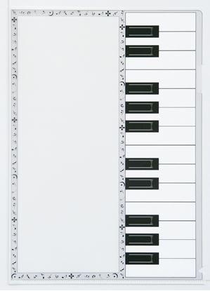 CH-LKNT 書けるクリアファイル(音符枠)KG3815-02 の画像