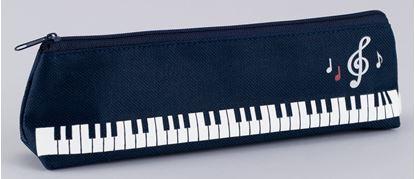OK4015-01 ペンケース 音符鍵盤 の画像