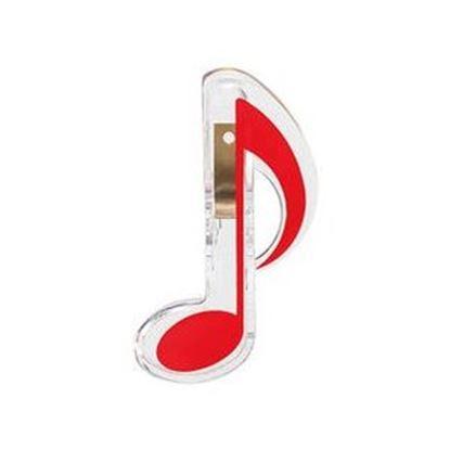 8分音符記号クリップ/レッド【発注単位:10個】 の画像
