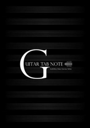 PRFG-303 ギターTABノート(ブラック・A4・10段) の画像