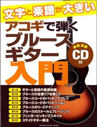 文字と楽譜が大きい アコギで弾くブルースギター入門 CD付 の画像