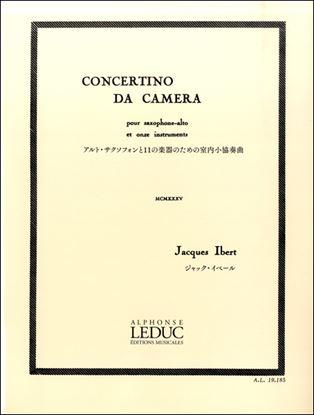 イベール:アルト・サクソフォンと11の楽器のための室内小協奏曲 ルデュック社ライセンス版 の画像