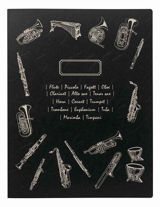 FL-95/BB/BLミュージックファイル/ブラスバンド/ブラック【発注単位:2】 の画像