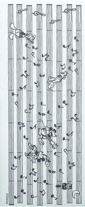 DWAー5476 一筆箋 楽譜(クラシックミッキー&ミニー)【出荷単位:10冊】 の画像