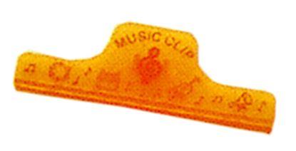 C14-2-OR 特大ミュージッククリップ(スケルトン)オレンジ の画像