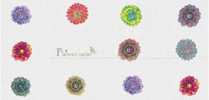 FN503PS 一筆箋Flower note【発注単位:3】 の画像