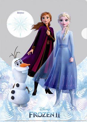 書けるクリアファイル アナと雪の女王/リーフ【発注単位:10枚】 の画像