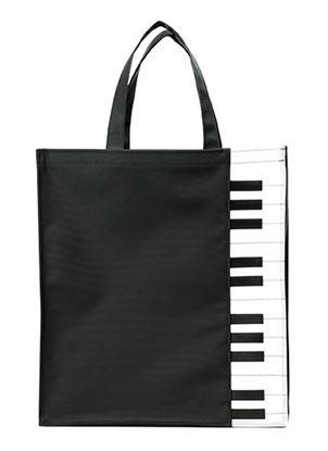 ピアノ鍵盤柄トートバッグ の画像