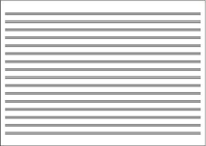 五線紙 NO.603 16段(10枚) の画像