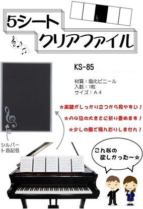 5シートクリアファイル KS-85 の画像
