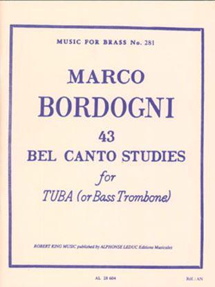 ボルドーニ : チューバのための43のベルカント練習曲 の画像