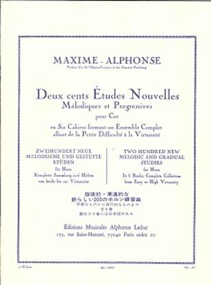 マキシム=アルフォンス : 新しい200の練習曲集 第1巻 の画像