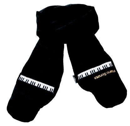 SF-3332-BK ミトンマフラー(ピアノソナタ)ブラック の画像