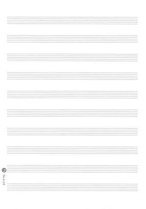 大判五線紙No.1―10段<一般用>(二つ折・10枚入り) の画像