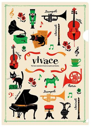 VC1815-01 クリアファイル/vivace(アイボリー) の画像