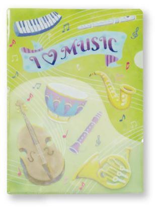ILM605PF ポケットファイル(I LOVE MUSIC)【単位:3枚 の画像