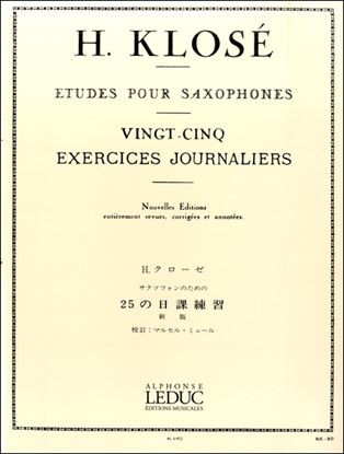 クローゼ/ミュール:サクソフォンのための25の日課練習 ルデュック社ライセンス版 の画像