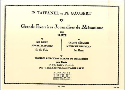 タファネル&ゴーベール:フルートのための17のメカニズム日課大練習 ルデュック社ライセンス版 の画像