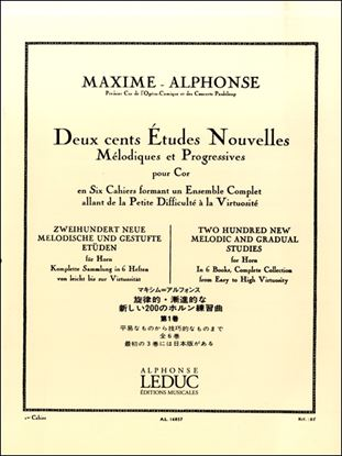 アルフォンス:旋律的・斬新的な新しい200のホルン練習曲第1巻 ルデュック社ライセンス版 の画像