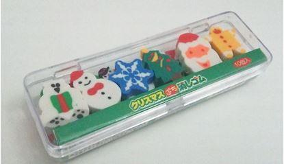 SA-015 クリスマス 消しゴム(10個入)【発注単位:12個 の画像