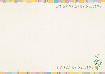 YL1115-04 プログラム台紙(ミュージックキャンバス)【発注単10 の画像