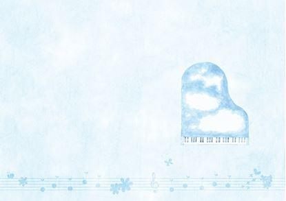 YL1115-05 プログラム台紙(スカイブルー)【発注単位10 の画像