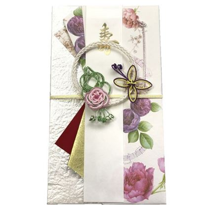 SG-194 祝儀袋 ピンクローズと蝶 の画像