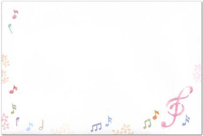 K20437-F なごみ音符 封筒【発注単位:5】 の画像