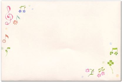 K20438-F ちらし音符 封筒【発注単位:5】 の画像