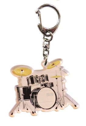 72854吹奏楽部ネームキーホルダー ドラムセット の画像