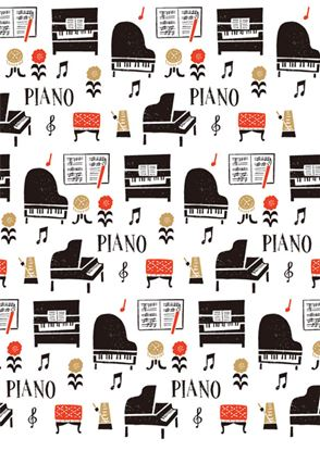 LP1815-01 クリアファイル la la PIANO の画像