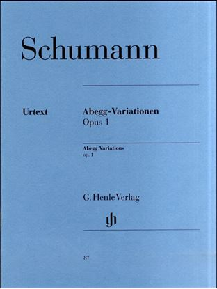 (87)シューマン アベック変奏曲 Op.1/原典版 の画像