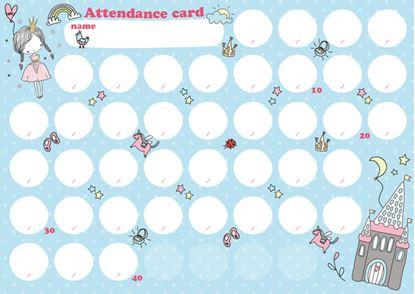出席カード キャッスル【発注単位:10枚】 の画像