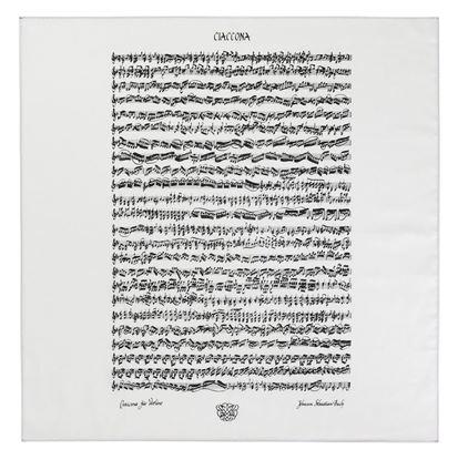 バッハ楽譜ハンカチーフ/シャコンヌ の画像
