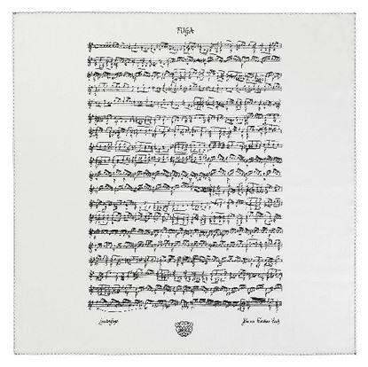 バッハ楽譜ハンカチーフ/フーガ の画像