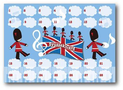 92260出席カード イギリス【発注単位:10枚】 の画像