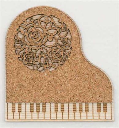 CM-P01 ピアノコースター ローズ の画像