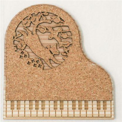 CM-P11 ピアノコースター ネコのワルツ の画像