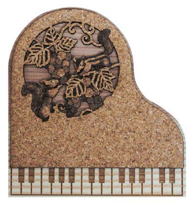 CM-P23 ピアノコースター ぶどうとりす の画像