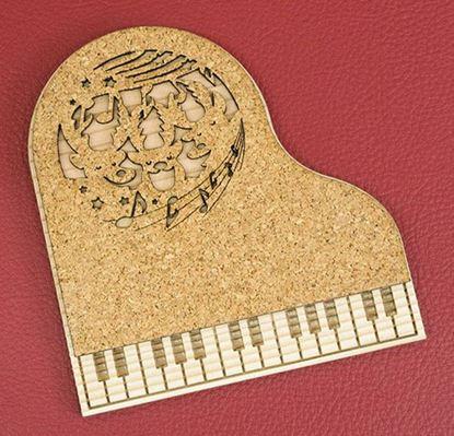CM-P18 ピアノコースター トナカイのコーラス の画像