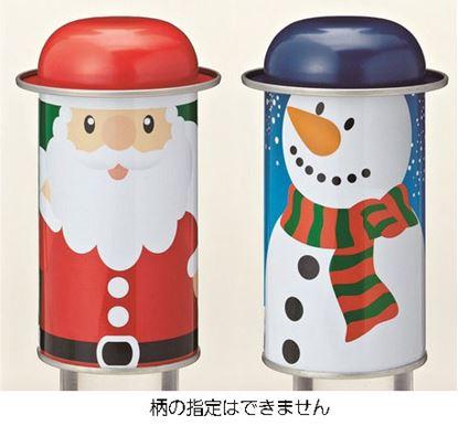 クリスマスふた付きブリキ缶 ※柄指定不可 の画像