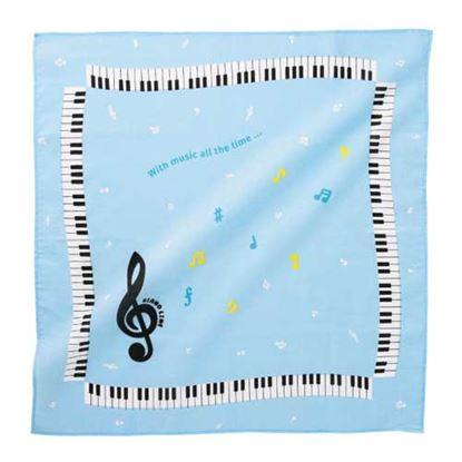 Piano line バンダナ(カラフル音符) ライトブルー の画像