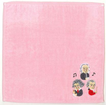 CT-5 タオルハンカチ 作曲家たち(ピンク) の画像