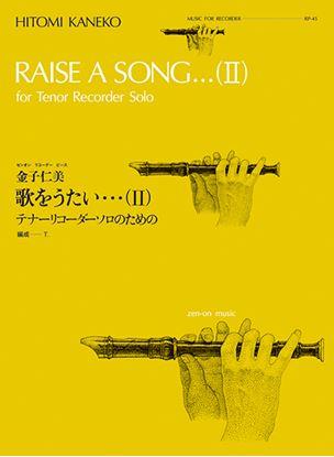 RP-45 金子仁美:歌をうたい・・・Ⅱ リコーダーのための の画像